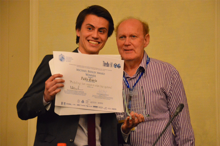Michael Beesley Award presented to Pablo Guarda e